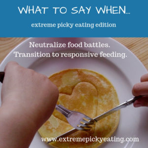 Taking Picky Eating To Extreme >> What Do I Say When Extreme Picky Eating Edition Helping Your